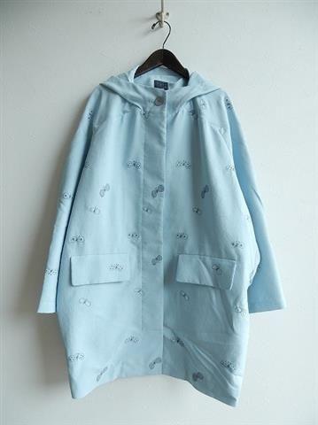 ミナペルホネン mina perhonen choucho フード付き刺繍コート