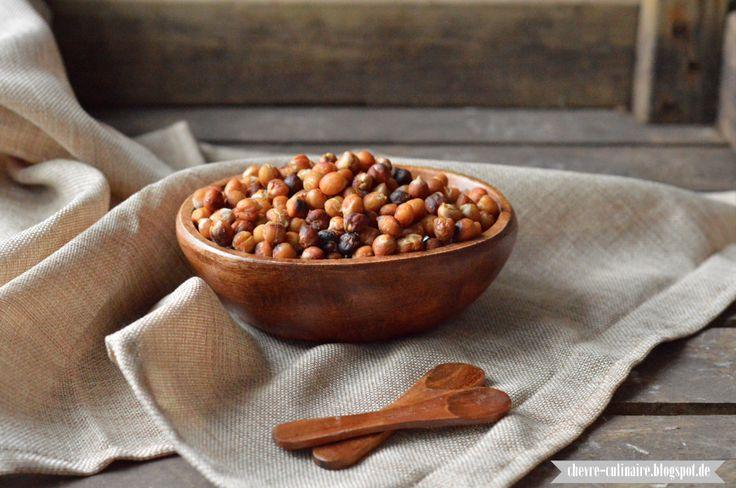 Chèvre culinaire: [Rezept] Geröstete Kichererbsen mit Meersalz & Honig - ein gesunder low-carb Knabbersnack