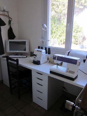 1000 id es sur le th me salles de couture sur pinterest l 39 organisation de la salle de couture. Black Bedroom Furniture Sets. Home Design Ideas