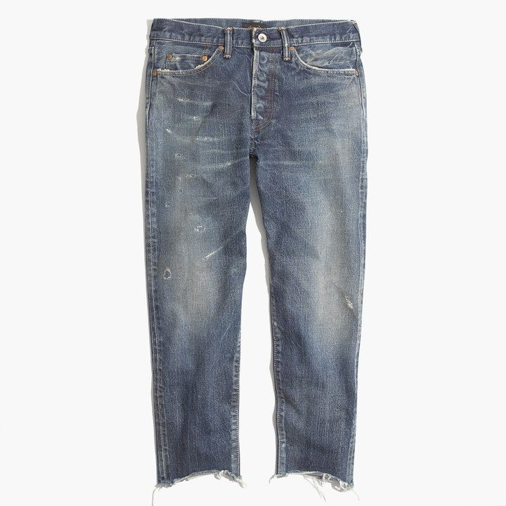 Chimala® Selvedge Used Ankle-Cut Jeans