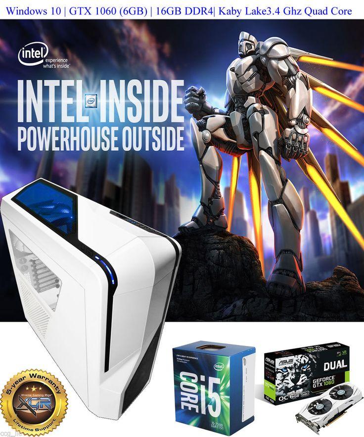 Kaby Lake Gaming Pc Gaming Rig http://ebay.to/2kqO1h9  3.4Ghz 16GB DDR4 Windows 10 GTX 1060  #BuyGamingPC #BuyComputer #BuyLaptop #USA_PC