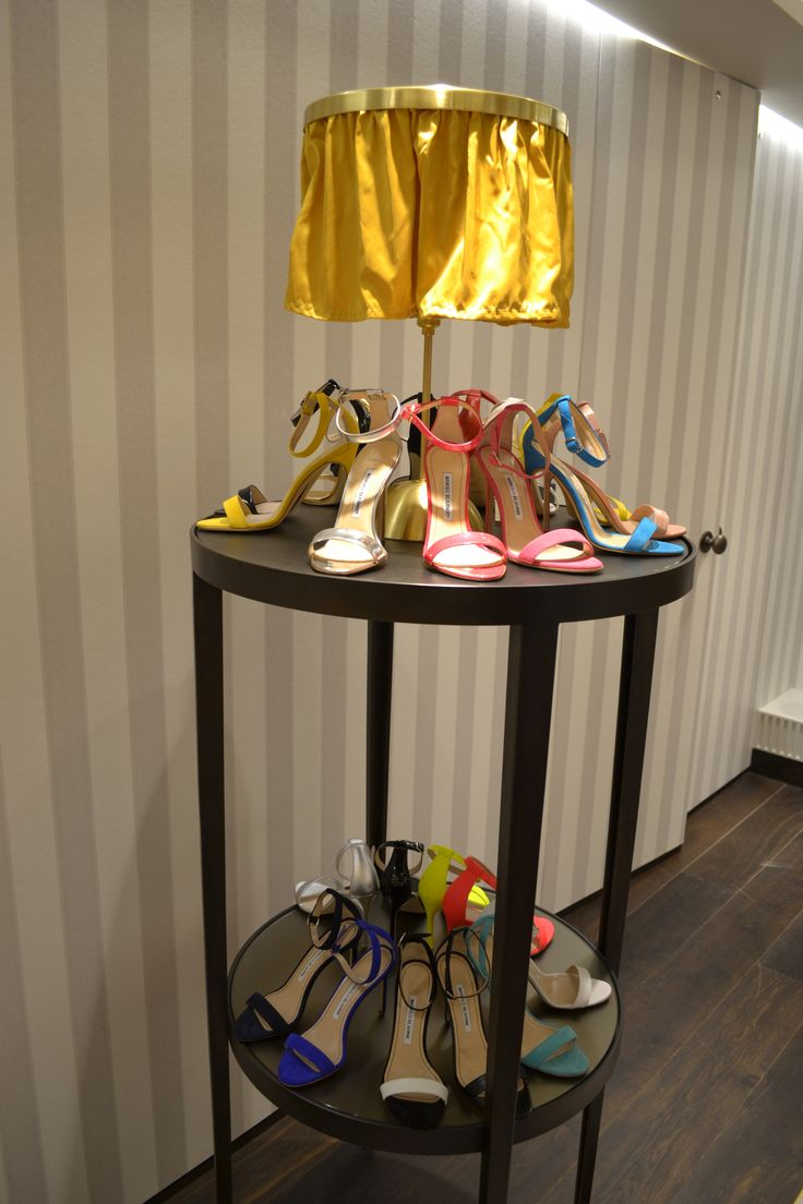 Manolo Blahnik, Harrods Shoe Heaven - September 2014