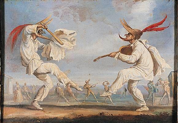 Peinture à l'huile (fin du XVIe ou début du XVIIe siècle) d'après une gravure de Jacques Callot. (Musée de la Scala, Milan.)