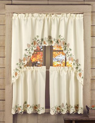 3-PC Embroidered Northwoods Curtain Set, Collections ect