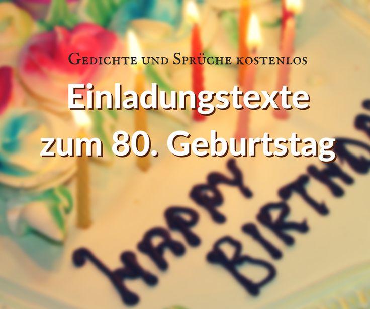Planen Sie einen 80. Geburtstag als Party und suchen Sie nach passenden Gedichten und Sprüchen? Hier finden Sie Einladungstexte zum Kopieren, Anpassen, fertig!
