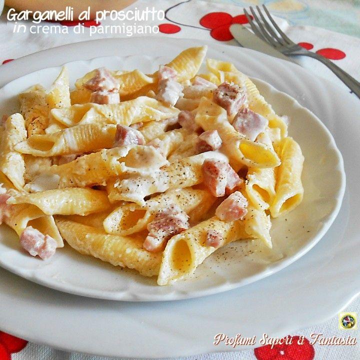 Garganelli al prosciutto in crema di parmigiano Blog Profumi Sapori & Fantasia