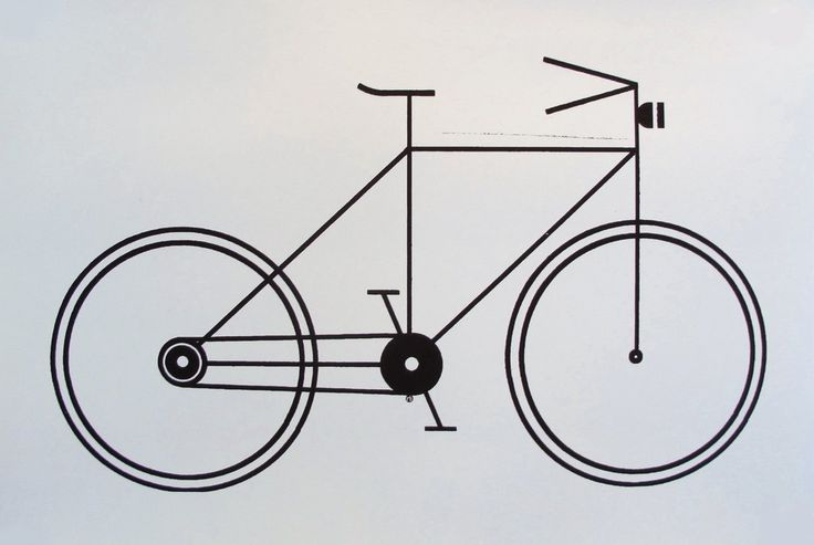 2011 Modern Geometric Bike Poster (black and white) - Raymond Biesinger. Raymond Biesinger is an artist based in Montreal, Canada. He uses complex geometry and North American political history to make his images.