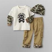 Small Wonders Infant Boy's Print Shirt, Hat & Cargo Pants at Kmart.com