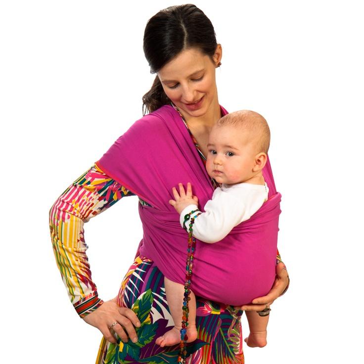 Liliputi® Strechy Wrap - Classic line - Fuchsia Blooming Babywearing & More! #liliputi #babycarrier #babywearing #wrap