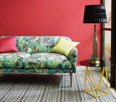 Matthew Williamson, exotic fabrics and wallpapers