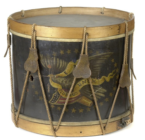 Civil War Era Drum with Eagle and Shield design. (John C. Haynes & Co., Boston).