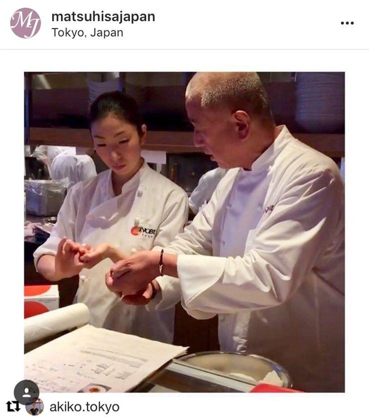 Female sushi chef @akiko.tokyo nobutokyo