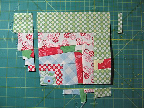 quarter log cabin #quilt block