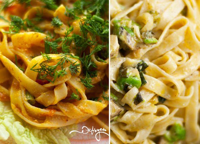 Сливочные соусы для пасты: томатный и чесночный (vegan)
