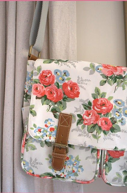 """Cath Kidston ~ I have this purse but in a different color & I love it. Fits my 13"""" Mac Pro. Ideal for anyone with a 13"""" laptop"""