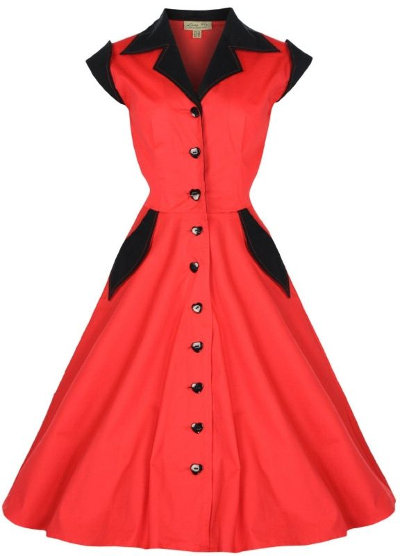 Vintage 1950's Rockabilly Shirt Dress  - Lindy Bop 'Jeanette' Vintage 1950′s Rockabilly Shirt Dress  Link    #fashion #women #womenfashion