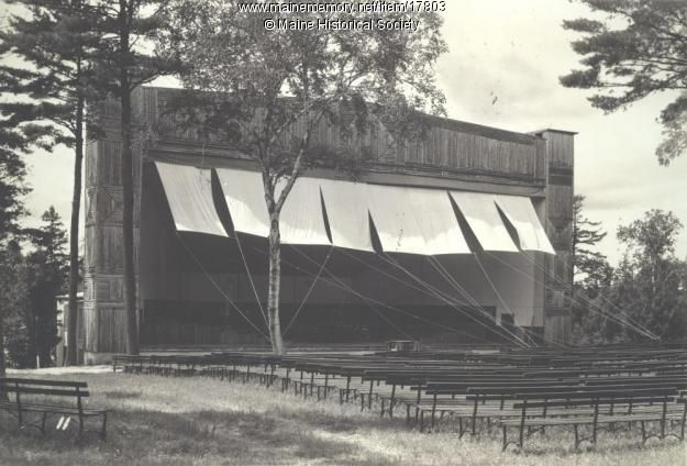 The Bowl, designed and built by Green & Wilson of Waterville, was the practice and performance hall of Eastern Music Camp on Lake Messalonskee in Sidney. It was built in 1931 when the camp acquired the property.   The stage is 100-feet wide, 45-feet deep, and 65-feet high. It can seat a 500-piece orchestra. The clearing in front of the Bowl can accommodate a crowd of 3,000.  The Bowl is still standing as part of New England Music Camp.