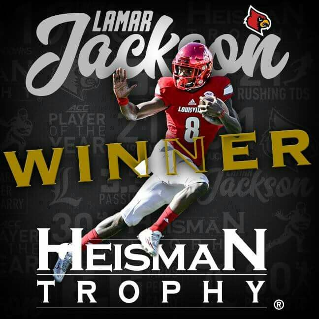 Louisville's Lamar Jackson is the 2016 Heisman Trophy Winner! #L1C4 #Heisman #L1C4LIT