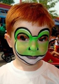 Frog face paint  | face painting frog - Google Search | Kids