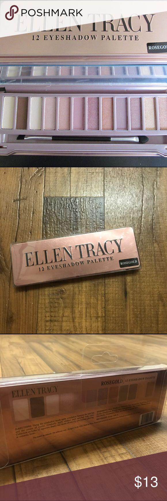 NWT Ellen Tracy Rose Gold 12 Eyeshadow Pallette New Sealed in original box 12 Eyeshadow Pallette  💲💲OFFERS WELCOME💲💲 ❌❌NO Trades❌❌ Ellen Tracy Makeup Eyeshadow