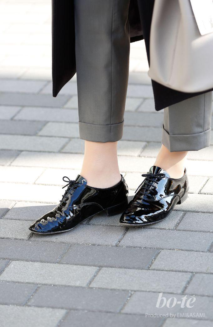 オーバーサイズのコート・エナメルシューズでちょっぴりモードなパンツスタイル9#repetto #レペット #shoes
