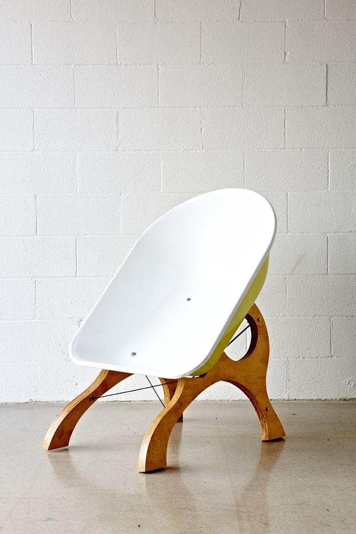 Modern wheelbarrow chair