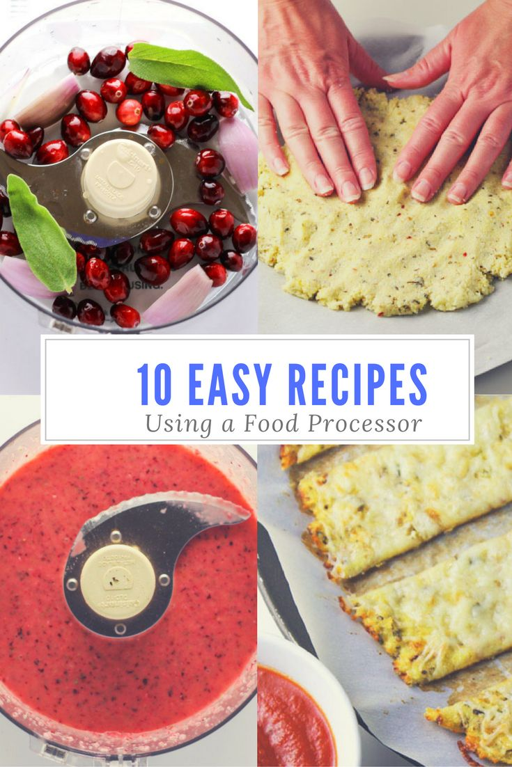 10 Easy Recipes To Make Using A Food Processor, these are so simple and so delicious! | http://Tastefulventure.com