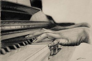 Playing Piano Drawing More like this