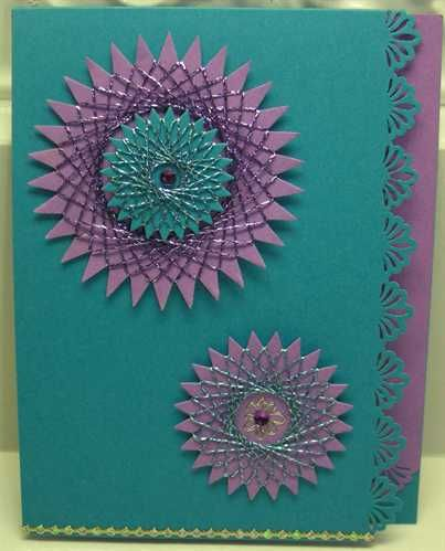 137 Best Cards With String Art Embroidery Or Sewing Details Images