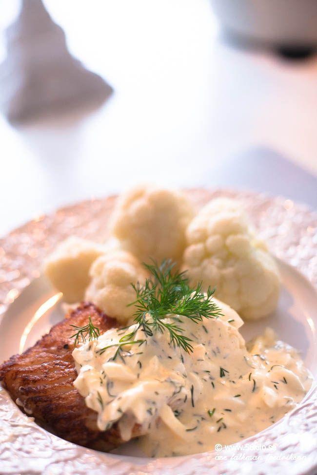 Smörstekt torsk och blomkål
