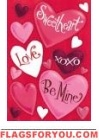 Valentine Hearts House Flag