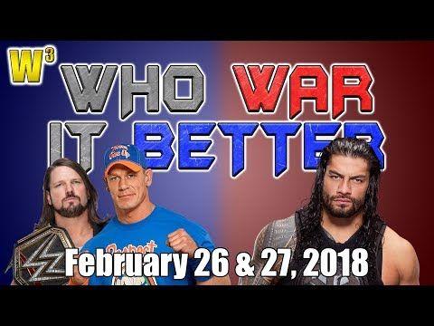 Roman Shoots on Brock! AJ Styles vs. John Cena!   Who War It Better