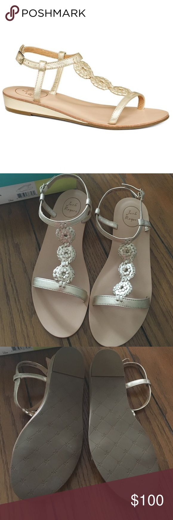 NEW Jack Rogers Sandals These are brand new and come in box as shown. Color: platinum. Price is firm. Jack Rogers Shoes Sandals