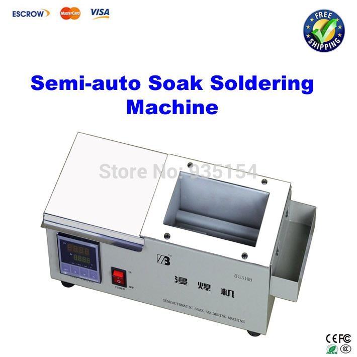 84.55$  Buy here - http://aligc2.worldwells.pw/go.php?t=1970364211 - semi-auto soak soldering machine Constant temperature Soldering tin stove ZB1510B digital display 640W 150* 100* 70mm 84.55$