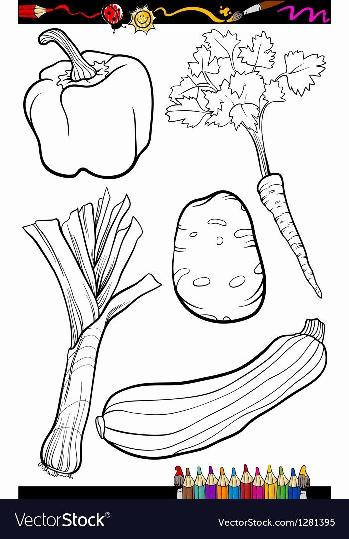 Coloring For Vegetables Awesome Cartoon Ve Ables Set For Coloring Book Vegetable Cartoon Fruit Coloring Pages Coloring Books
