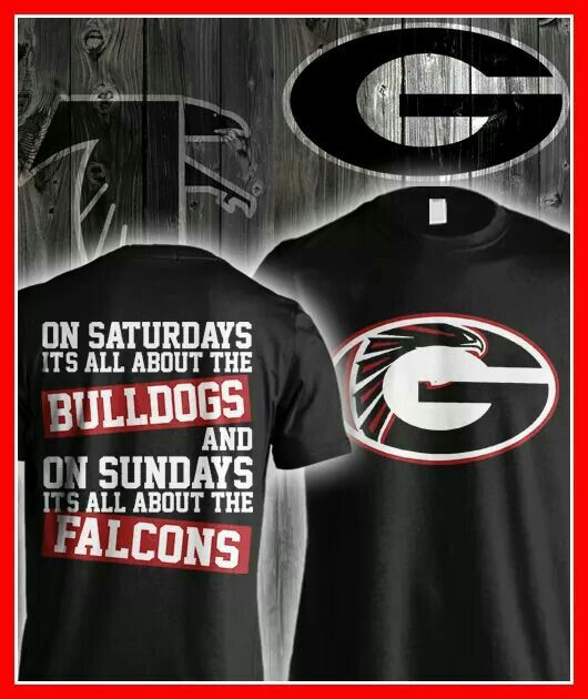 Love This T Shirt Football Uga And Falcons