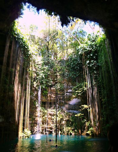 Ik Kill Cenote, Mexico.  I was fortunate enough to jump in and swim here in 2010