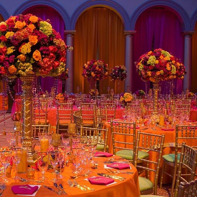 Indian wedding reception by David tuttera