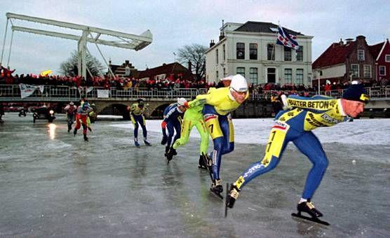 Elfstedentocht.  Big event in the Netherlands