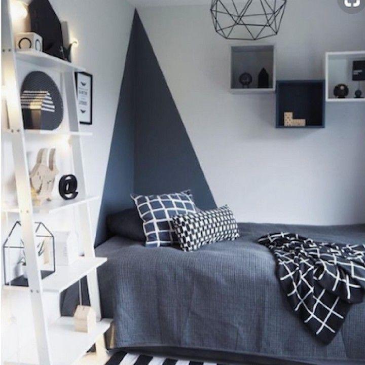 N Termine La Journee Avec Cette Idee Deco Simple Et Efficace Peindre L Angle D Un Mur Afin D Apport Deco Chambre Adolescent Deco Chambre Idee Peinture Chambre
