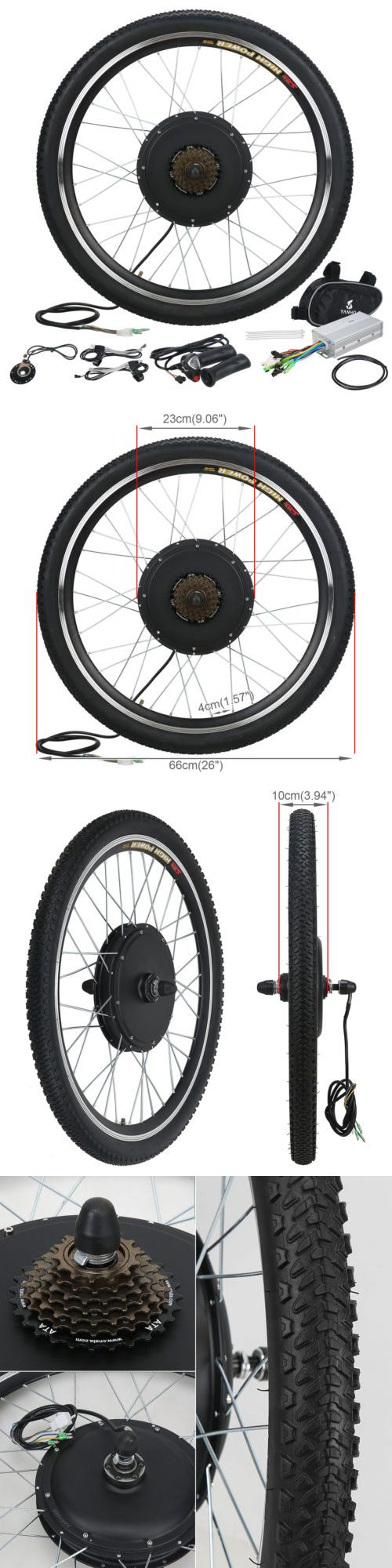 Other Bike Components and Parts 57267: 26 Electric Bicycle Rear Wheel E-Bike Conversion Kit 48V 1000W Motor Hub Speed BUY IT NOW ONLY: $153.95