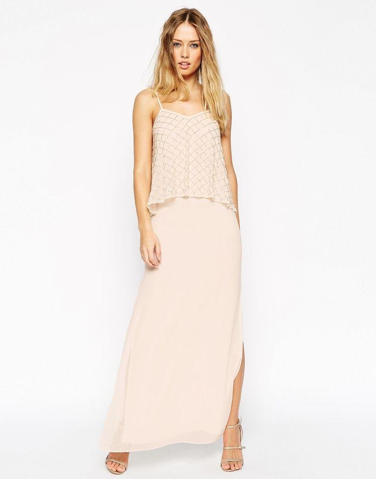 Needle & Thread Embellished Tiered Geo Maxi Dress · Wedding  BridesmaidsWedding DressBridesmaid DressesBeige ...