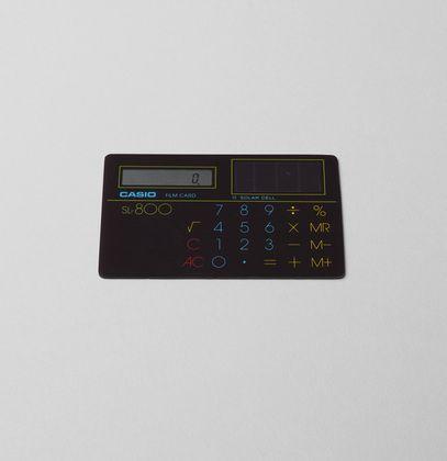 Film Card Solar Calculator (1982) by Casio.