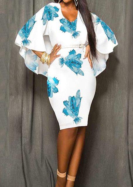 Women Charming Stylish Soft Sundress Printed Half Sleeve Backless O Neck O Neck Casual Sexy Plus Size Mini Dress