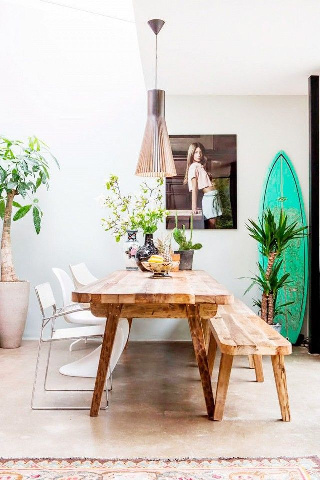 You don't have to go to surf camp to get a little slice of Pura Vida for the home. Chic fashion surfboards can add a beach-inspired bohemian edge to the home when casually leaned against a...