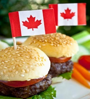 These burgers are perfect for Canada Day bbq. They are extremely moist and flavorful due to the hoisin sauce.  Serve these on miniature hamburger buns and add some sautéed onions.