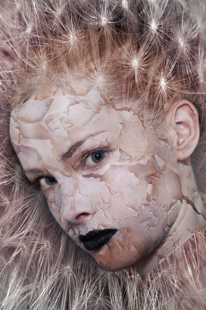 girl by Elena Platonova from dreamstime  background image by Ove Tøpfer from stockxchge Peeling skin  from insane crackz by resurgre  from devaint art