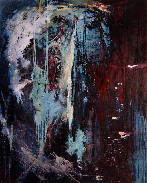 MACIEJ PRZYBYLSKI oil on canvas 200/160 cm