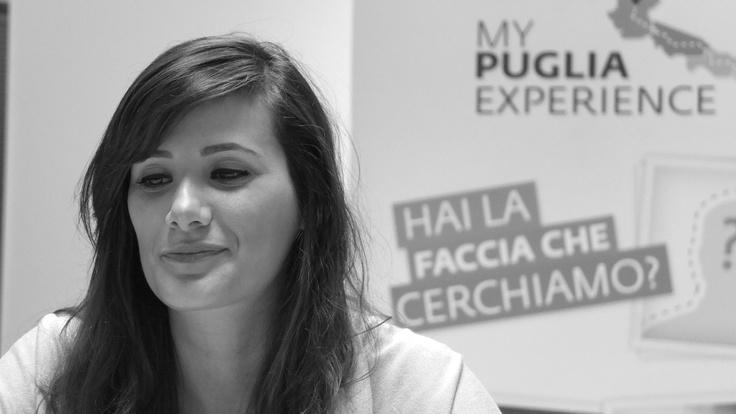 Viviana durante le selezioni degli 8 testimonial di #MyPugliaExperience.