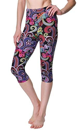a0dae9d385fab VIV Collection Plus Size Printed Brushed Capris (Shining Wheels) at Amazon  Women's Clothing store